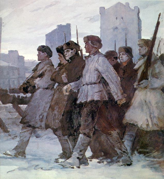 И.Агапов. Москва 1941. Фрагмент.
