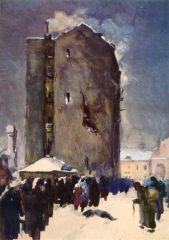 Я.С. Николаев. Ленинград. Зима. 1941-1942. Очередь за хлебом.