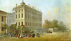 Вид Аничкова дворца со стороны Невского проспекта