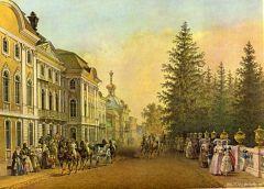 Вид Большого Петергофского дворца со стороны нижнего сада