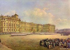 Парад гвардейских полков около Зимнего дворца