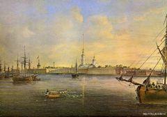 Вид Невы и Петропавловской крепости