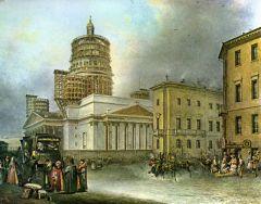 Вид Исаакиевской площади с Малой Морской улицы
