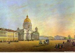 Вид площади между Исаакиевским собором и Адмиралтейством