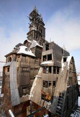 21. Деревянный небоскреб в Архангельске. Снесен в 2009 году.jpg