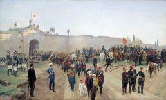 Сдача крепости Никополь 4 июля 1877 года. 1883.jpg