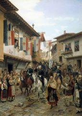 Въезд великого князя Николая Николаевича в Тырново 30 июня 1877 года. 1885.jpg
