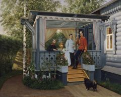 Великий князь Сергей Александрович, цесаревич Николай Александрович и великий князь Павел Александрович в Царском селе. Конец 1880-х.jpg