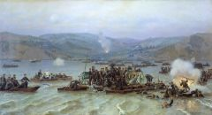 Переправа русской армии через Дунай у Зимницы 15 июня 1877 года. 1883.jpg