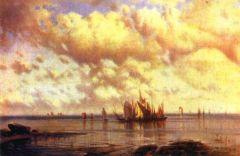 Парусники в заливе. 1860.jpg