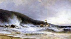 Прибой у мыса Сен-Мартини. 1854.jpg