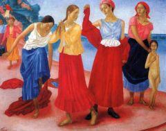 Девушки на Волге. 1915.jpg