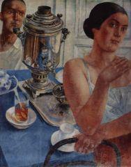 За самоваром. 1926.JPG
