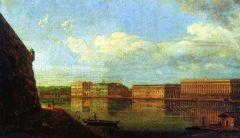 Вид Дворцовой набережной от Петропавловской крепости. 1794.jpg
