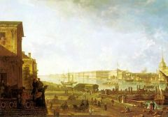 Вид на Адмиралтейство и Дворцовую набережную от Первого кадетского корпуса. 1810-е.jpg