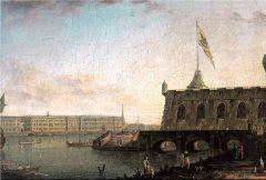 Вид Петропавловской крепости и Дворцовой набережной. 1799.jpg