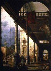 Внутренний вид двора с садом. Лоджия в Венеции. 1776.jpg
