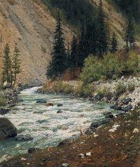 Горный ручей в Кашмире. 1876г
