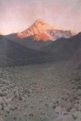 Гора Казбек. 1897г