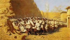 У крепостной стены. «Пусть войдут». 1871