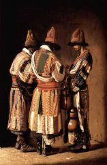Дервиши в праздничных нарядах. 1869