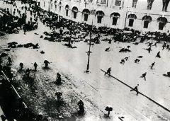 Расстрел февральской демонстрации на Невском проспекте. Петроград