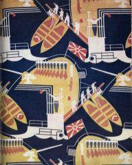 Морской флот. Сатин декоративный. Конец 1920-х --  начало 1930-х гг.