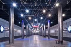 Новосибирск. «Космическая» станция метро.