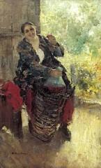 Хозяйка (Женщина с вином). 1897