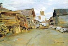 Село на севере России. 1880 е