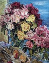 Розы на фоне моря 1930 е