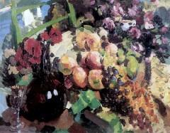 Рыбы, вино и фрукты. 1916