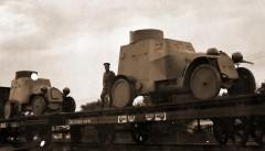 Русский бронедивизион отправляется к фронту, 1915 год