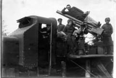 1-я Отдельная автомобильная батарея для стрельбы по воздушному флоту. Командир капитан Василий Тарновский. 1915 г.