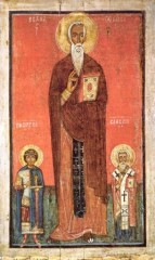 Святые Иоанн Лествичник, Георгий и Власий. Вторая половина XIII века
