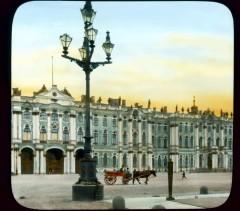 Эрмитаж (бывший Зимний дворец) вид на главный фасад со стороны Дворцовой площади
