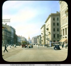 Невский проспект, перспектива улицы, завершающаяся зданием Адмиралтейства