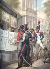 Карикатуры и копии съ картин художников 1812 г