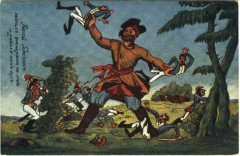 Руской Геркулесъ загналъ французовъ въ лесъ и давилъ какъ мухъ