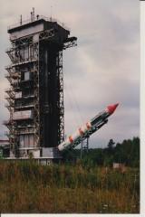 """Работа башни обслуживания РК """"Космос-3М"""""""