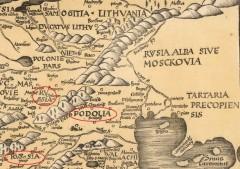 Руссия, Подолия, Белая Руссия или Московия. Карта 1513 г.