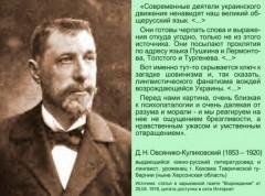 Овсянико-Куликовский Д.Н. об украинстве