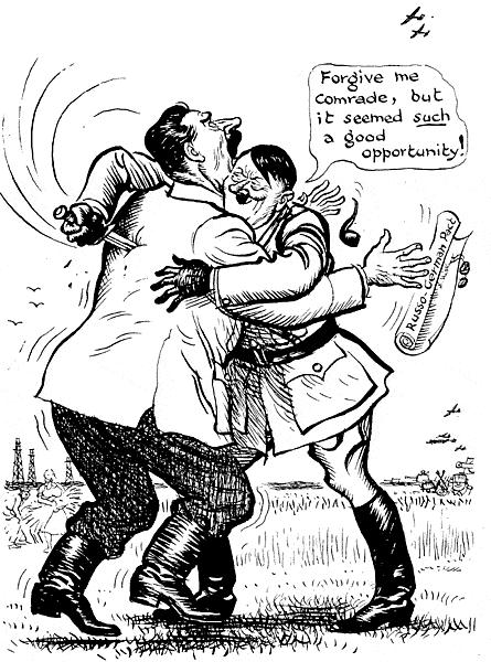 Stalin Hitler Еще короче о начале войны в представлении английского карикатуриста