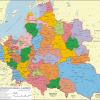Административное деление I РП в 1619 г.