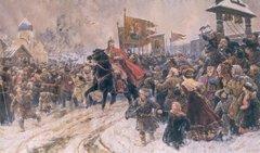В. Серов, Въезд Александра Невского во Псков после ледового побоища
