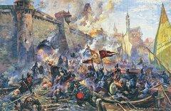 Взятие Нарвы русскими войсками 11 мая 1558 года. Худ. А.А. Блинков, 1956.jpg