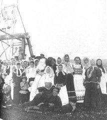 Катание на релях на Пасху. Тамбовская губ., Кирсановский у. 1904 г.