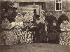 Крестьяне Нижегородской губернии, 1870-е. Фото И.Рауля.