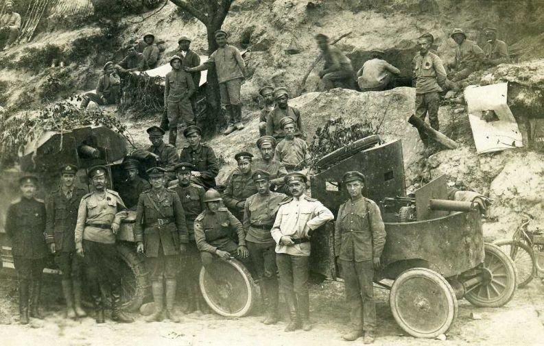 Британские Lanchester и Ford-T в Румынии. Русские и союзники на Румынском фронте.