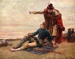 Карл XII и Мазепа после Полтавской битвы. Художник Г. Седерстрём